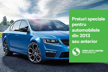 Preturi speciale pentru automobilele din 2013 sau anterior